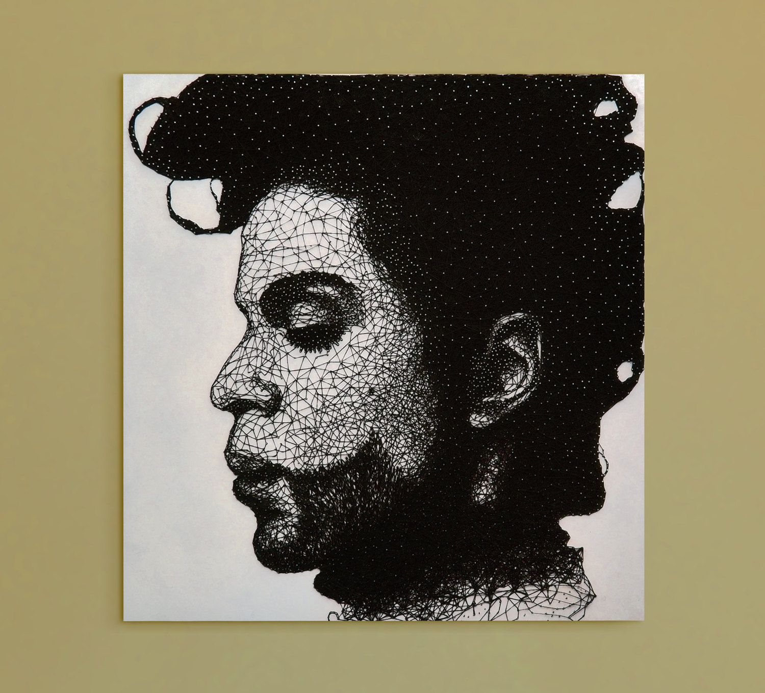 Prince String and Nail Portrait | String art, Etsy and String art ...