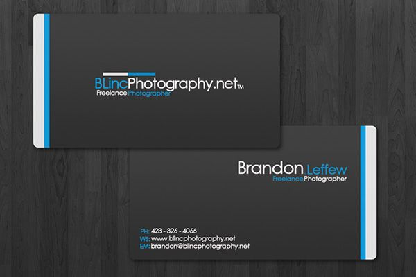 Clean business card template with round corners created for brandon clean business card template with round corners created for brandon leffew a freelance photographer flashek Gallery