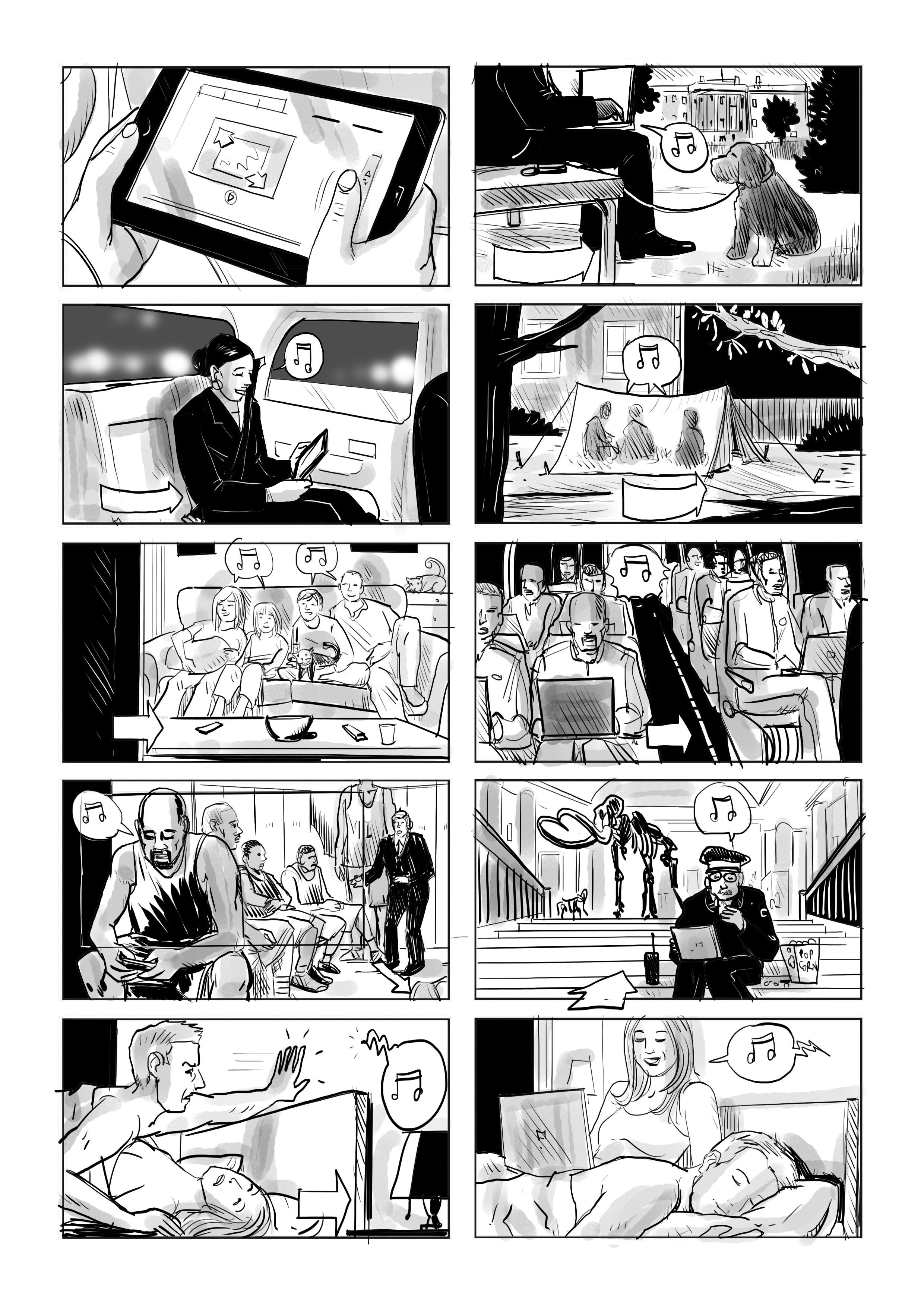 Storyboard For Tv Commercial By Giuseppe Cristiano Www