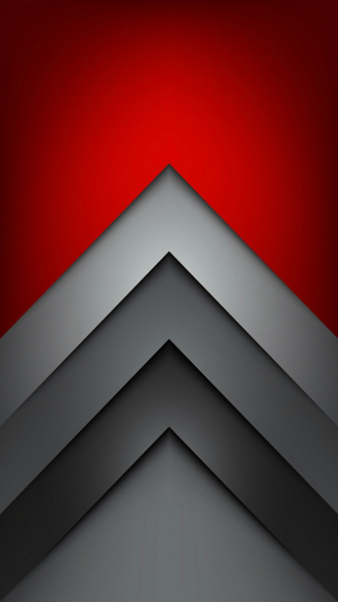 Red And Grey Chevron Wallpaper
