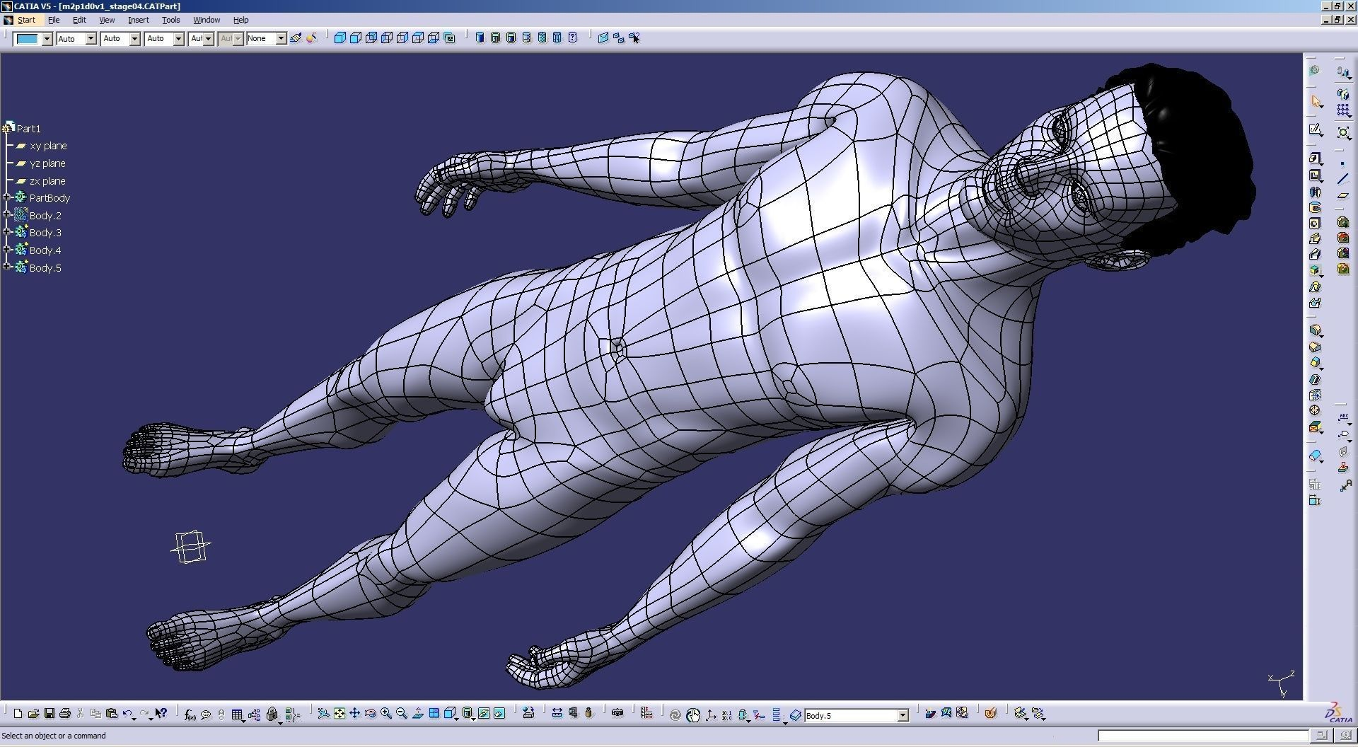 Solidbody CAD #Model M2P1D0V1 Tyler in #CATIA interface