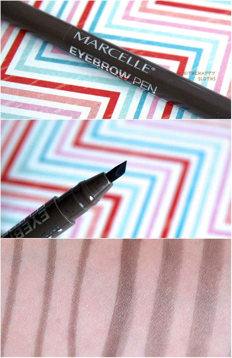 Marcelle Eyebrow Pen Review and Swatches Eyebrows
