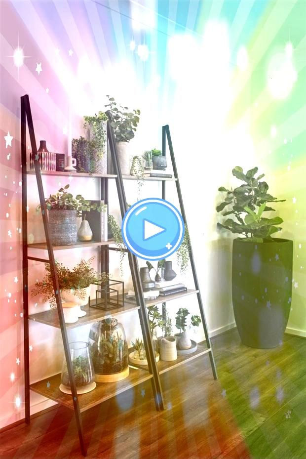 kmart industrieleiter regal indoor vertikale garten ideen kmart industrieleiter regal indoor vertikale garten ideen Almanzar Ladder Bookcase Friendly House Plants For Ind...