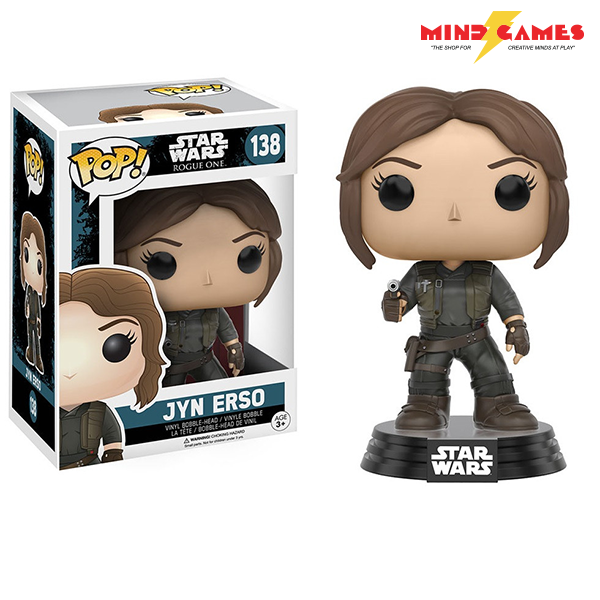 A defiant and eager fighter Jyn Erso is used to working alone. But she sees higher purpose in working with the Rebel Alliance for the greater good of a world without the Empire. Can she along with many others defeat the evil that is the Empire? Standing at 3 3/4 inches tall.