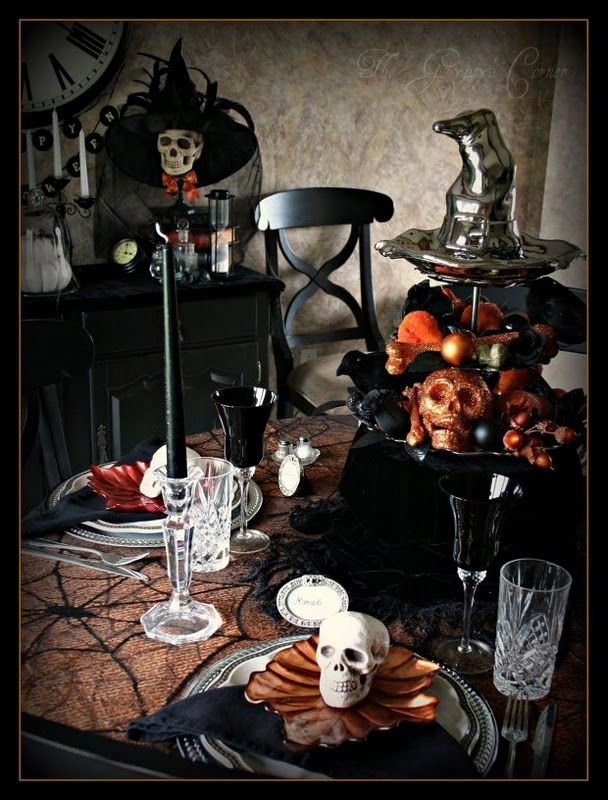 Spooky table!  Love this!