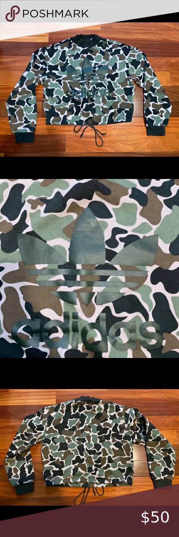 Predownload: Adidas Crew Neck Sweatshirt Camo Adidas Camo Crop Crew Neck Sweatshirt Brand New With Out Tags Women S Size Adidas Crew Neck Crew Neck Sweatshirt Adidas Camo [ 1740 x 580 Pixel ]