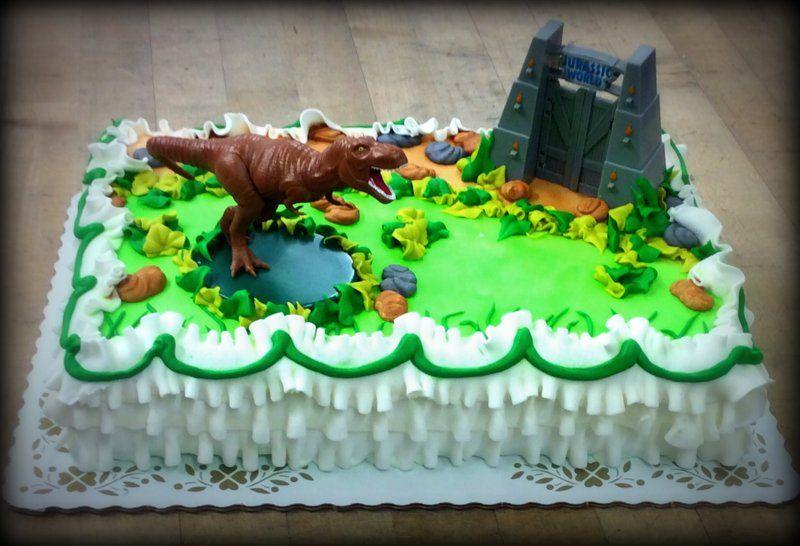 Jurassic World Sheet Cake For Children Birthday Cake Kids
