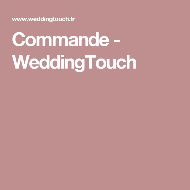 Commande - WeddingTouch
