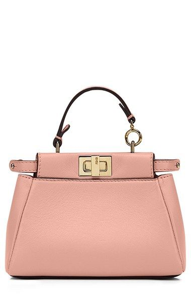 d6a3be3f1b Fendi  Micro Peekaboo  Nappa Leather Bag (Extra Small) available at   Nordstrom