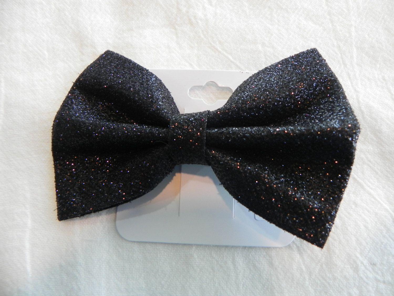 Black bow hair accessories - Black Glitter Classic Boutique Bow Hair Bow Hair Accessories Girls Toddlers Babies Photo Hair Clip Fine Glitter Christmas