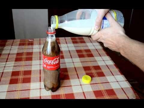 ECCO COSA SUCCEDE SE SI MISCHIA IL LATTE CON LA COCA COLA – VIDEO http://www.ilpeggiodellarete.it/ecco-cosa-succede-se-si-mischia-il-latte-con-la-coca-cola-video/ #video #esperimento #cocacola #latte
