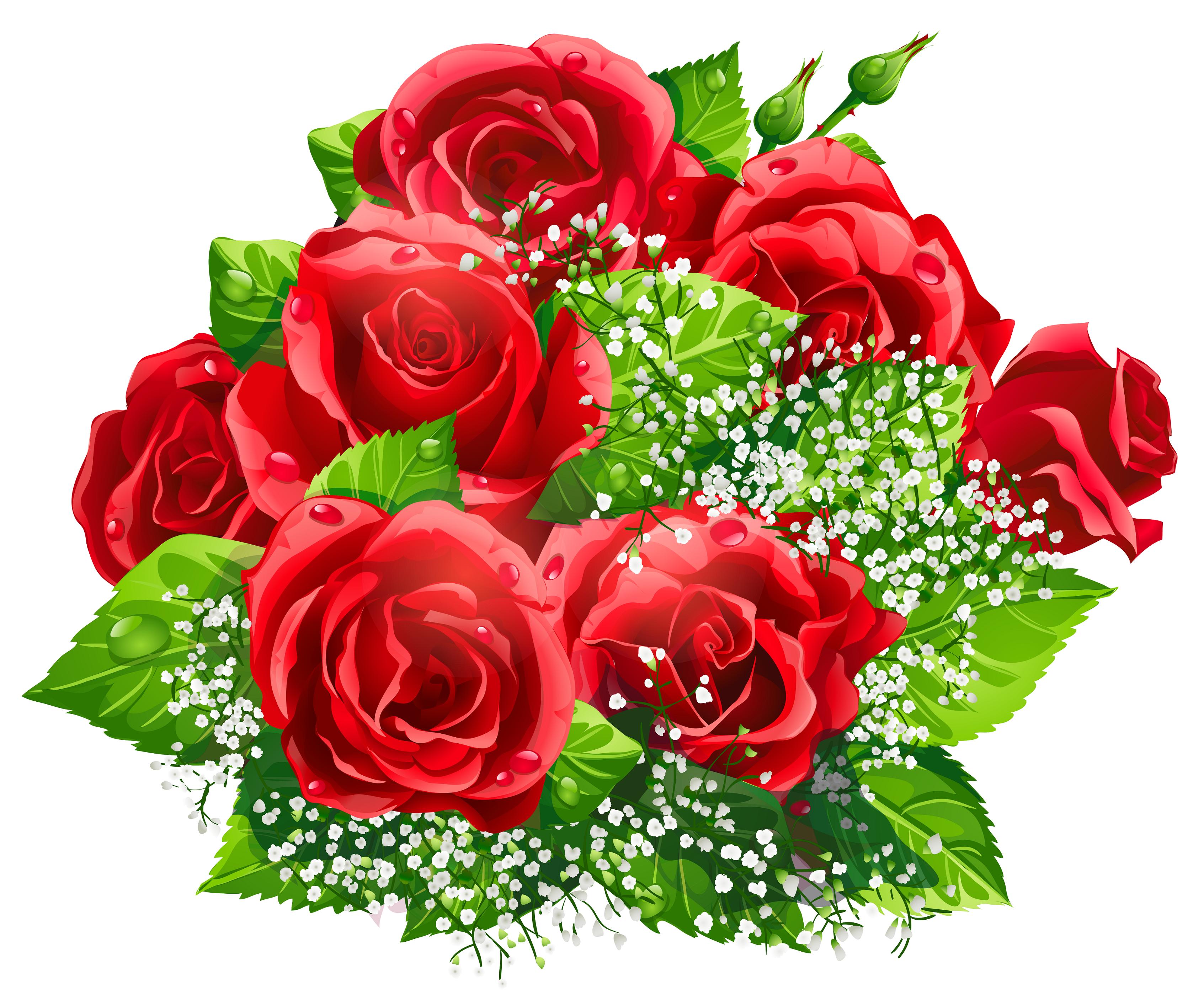 Red Roses Bouquet Clipart Hoa Hoa Hồng