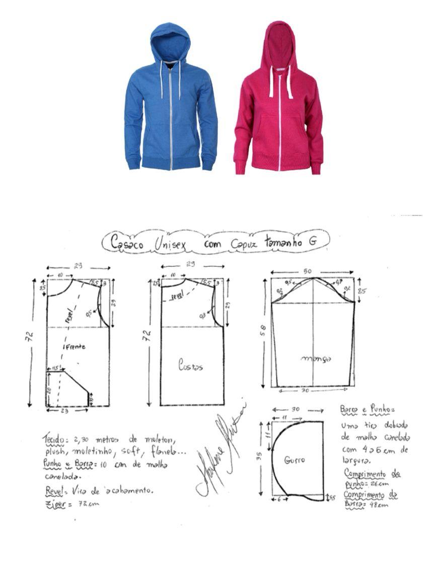 Sudadera | moldes | Pinterest | Costura, Patrones de costura y ...