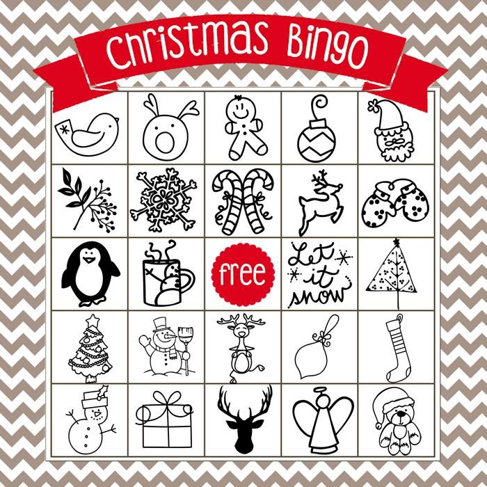 Insane image with printable christmas bingo