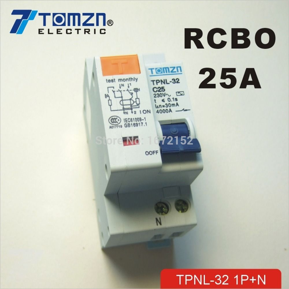 Dpnl 1p N 25a 230v 50hz 60hz Residual Current Circuit Breaker With Wiring Testing Electrical Equipment Circuits Over