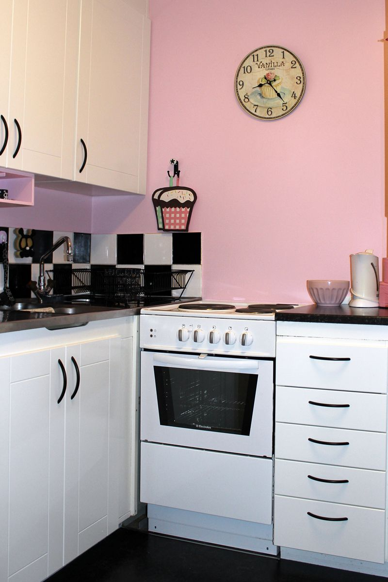 Pink And Black Kitchens Google Search