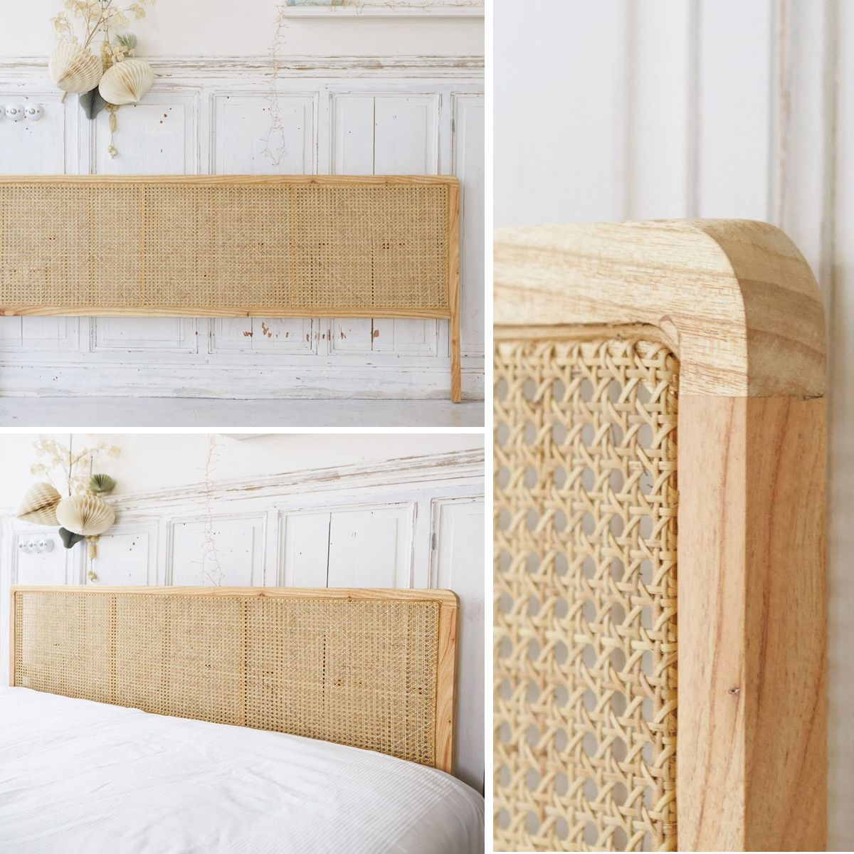 Need ! La tête de lit en cannage by Tikamoon