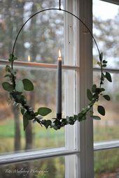 Kerzenlicht Eukalyptuskranz im Fenster !! - HWIT BLOGG