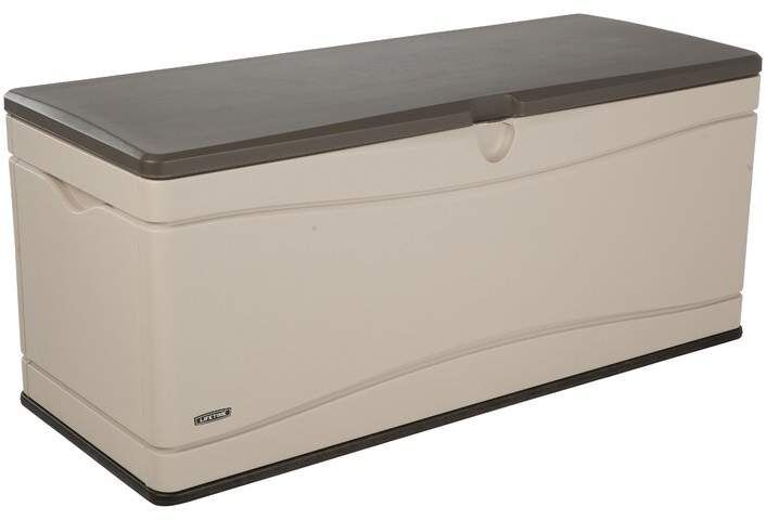 Lifetime 130 Gallon Plastic Storage Bench Garden Storage Bench