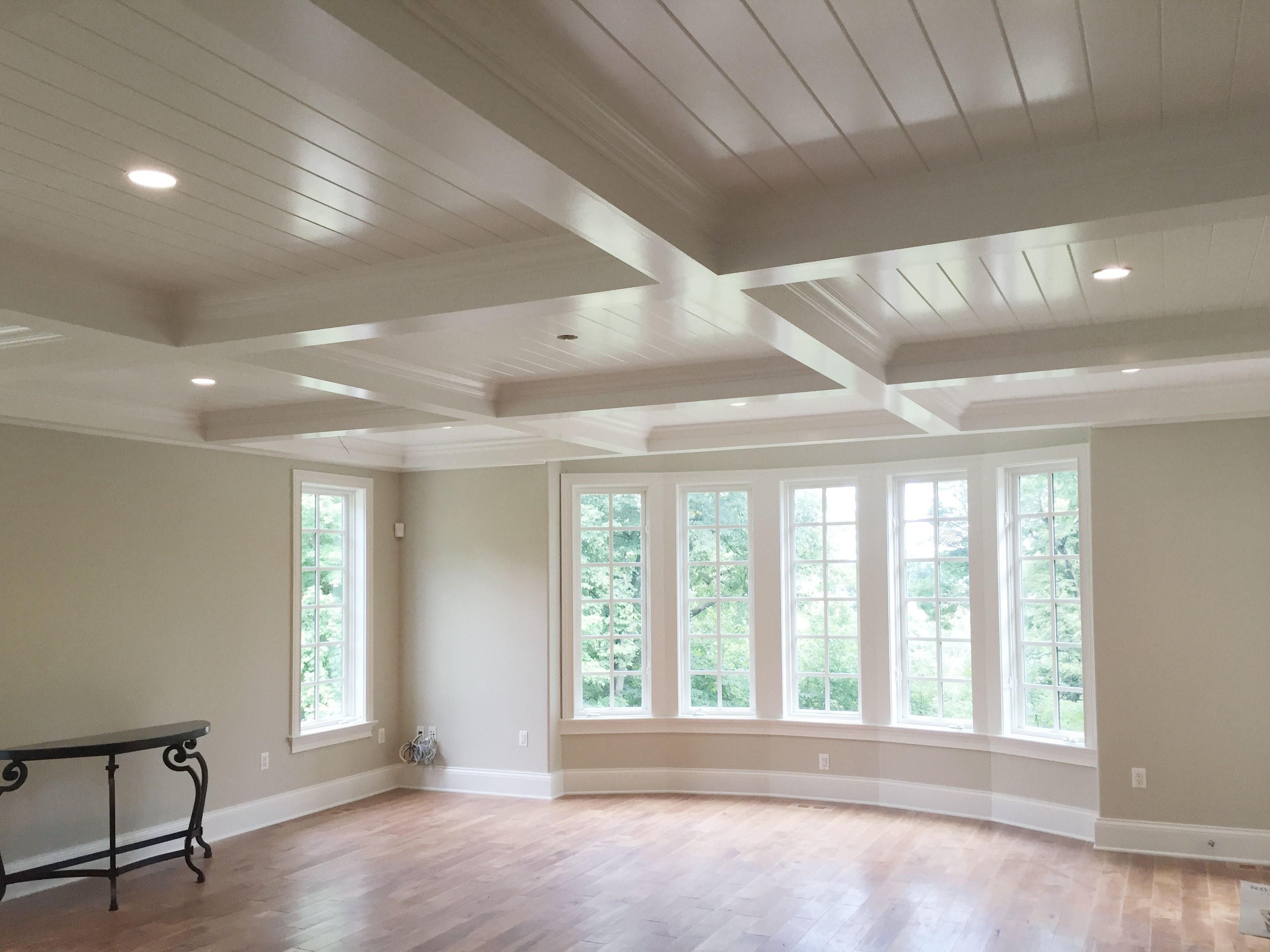 Coffered Ceiling With V Groove Coffered Ceiling Kitchen Kitchen