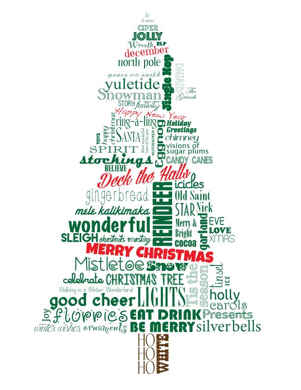 Christmas Tree Subway Art At Least