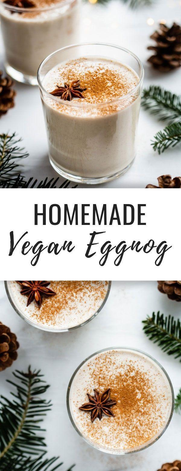 Homemade vegan eggnog