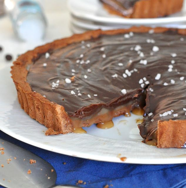 Get your daily dose of sweetness with this sinfully delicious double-chocolate and salted caramel tart I wish I felt sorry for posting ...