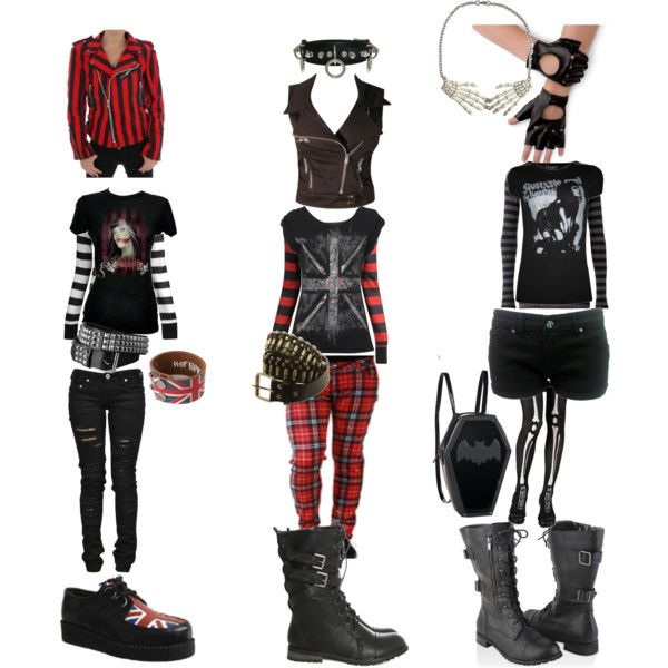 Punk Outfits By Emilybaer On Polyvore Outfits Pinterest Punk Outfits Punk And Polyvore