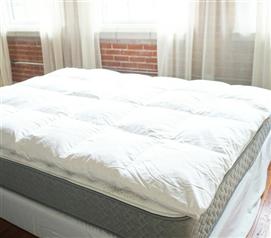 Bafflebox Full Duck Down Featherbed Oversized Full Xl Bedding Mattress Bed Sizes Mattress Topper