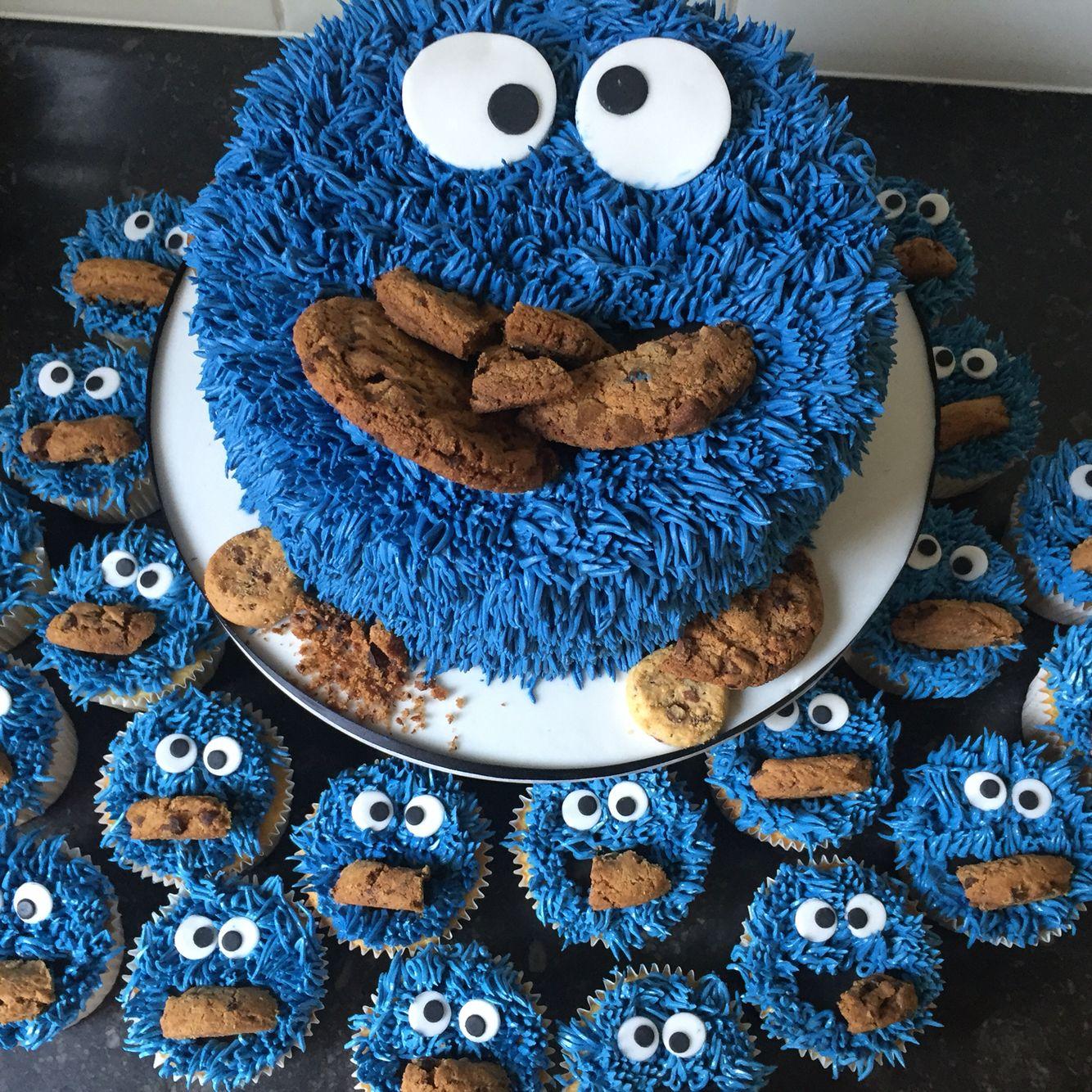 Cookiemonster birthday cake