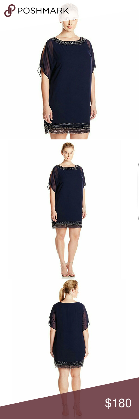 New xcape plus size bead formal dress polyester spandex