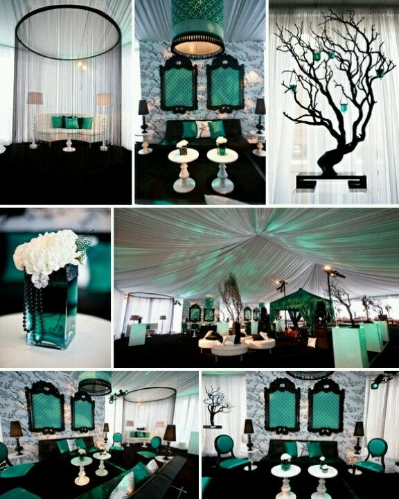 Teal Wedding Ideas For Reception: Teal+Black+White...add Gold And I'm Set! In 2019