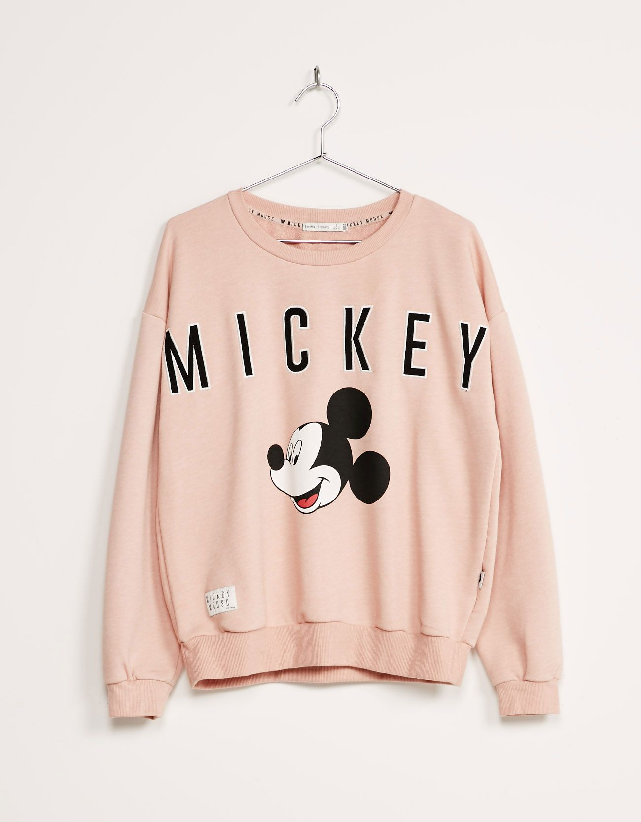 Bsk Mickey Sweatshirt Sweatshirts Bershka United Kingdom Doseofbblog Insta Twitter Pinterest Www Dos Cute Disney Outfits Disney Outfits Disneyland Outfits [ 1667 x 1300 Pixel ]