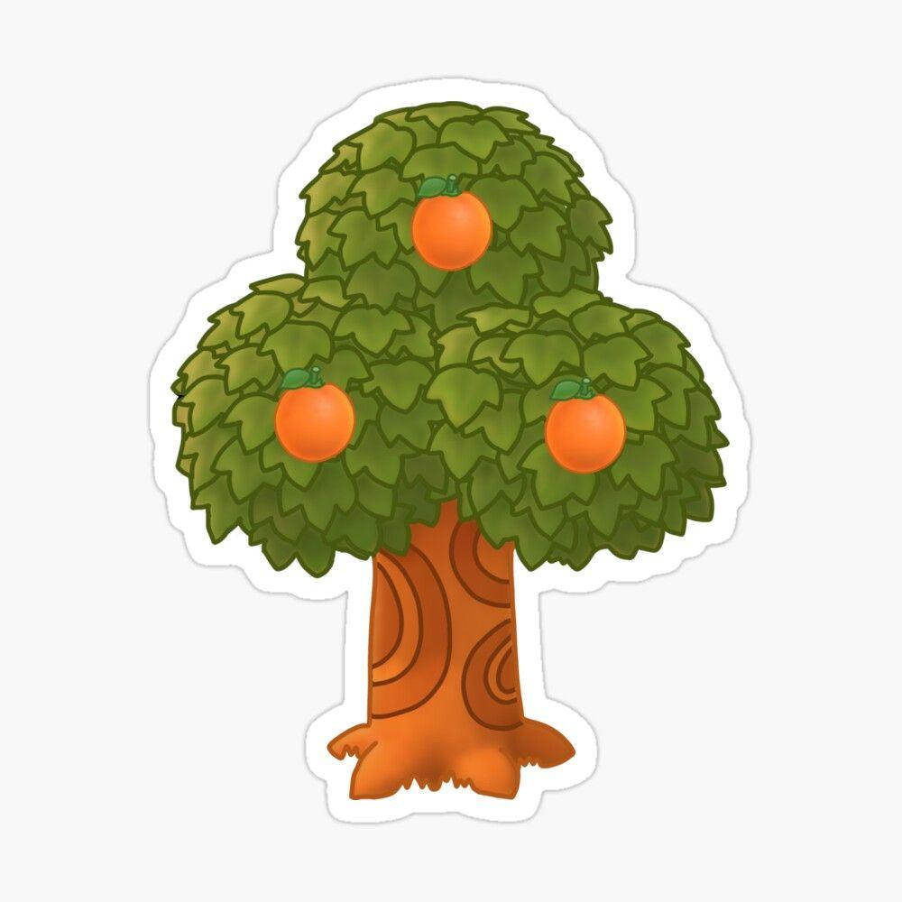 'Orange Tree Animal Crossing' Sticker by Trendy Trends in