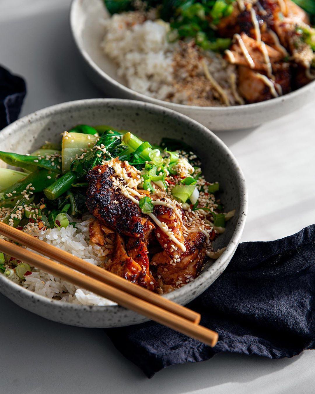 whole foods salmon teriyaki bowl
