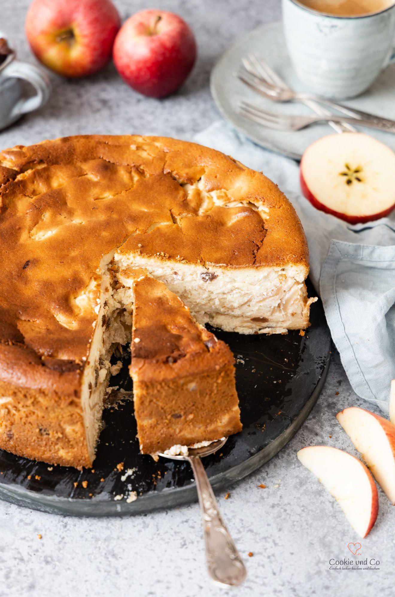 Rezept für einen saftigen Apfel-Quark-Kuchen mit Grieß