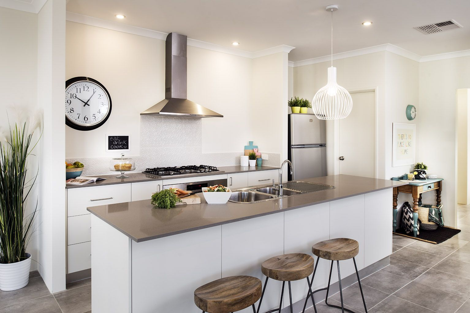 Homebuyers centre monroe display home kitchen also our house rh pinterest