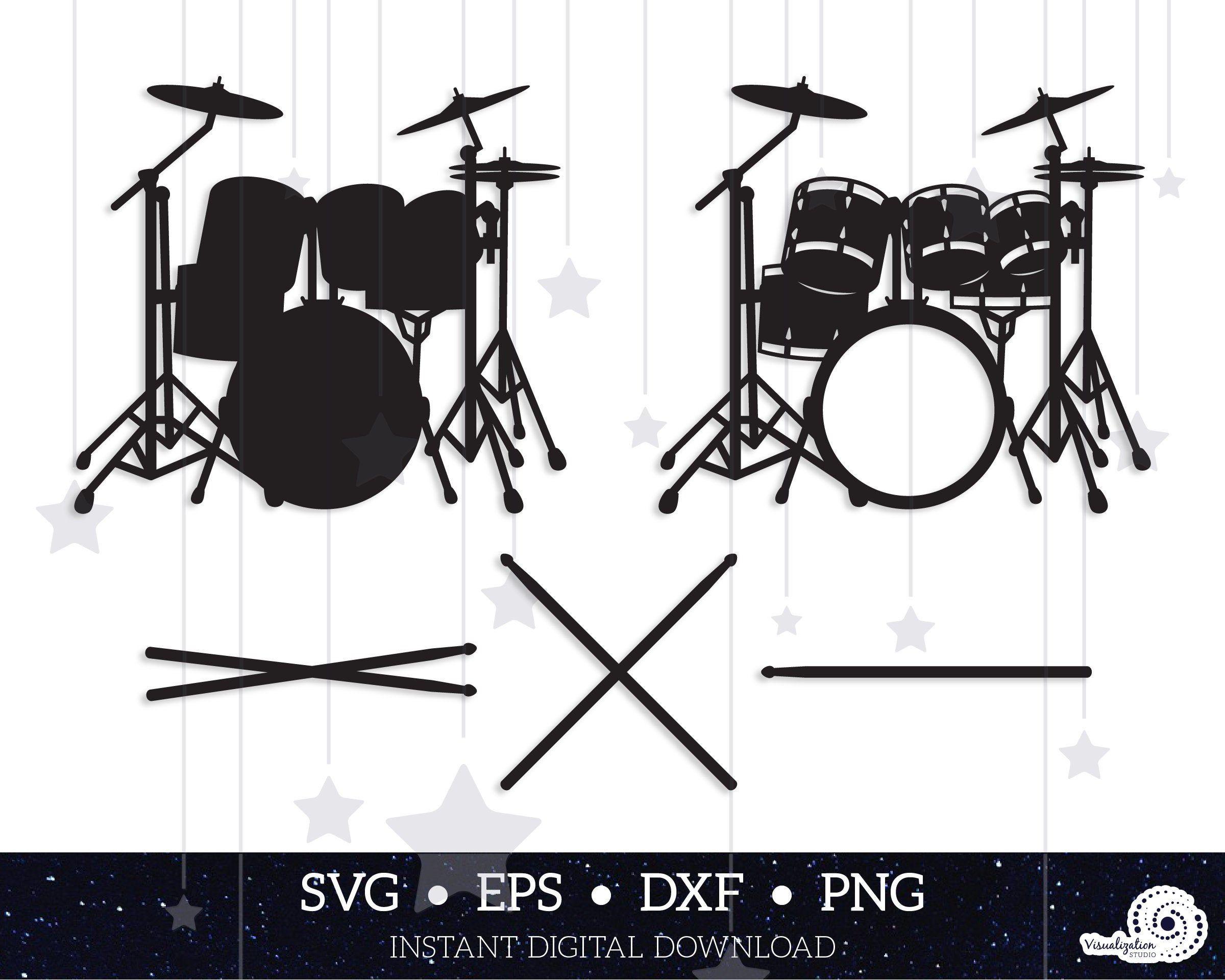 Drums Vector Set Instant Digital Download Svg Dxf Etsy Digital Dxf Svg