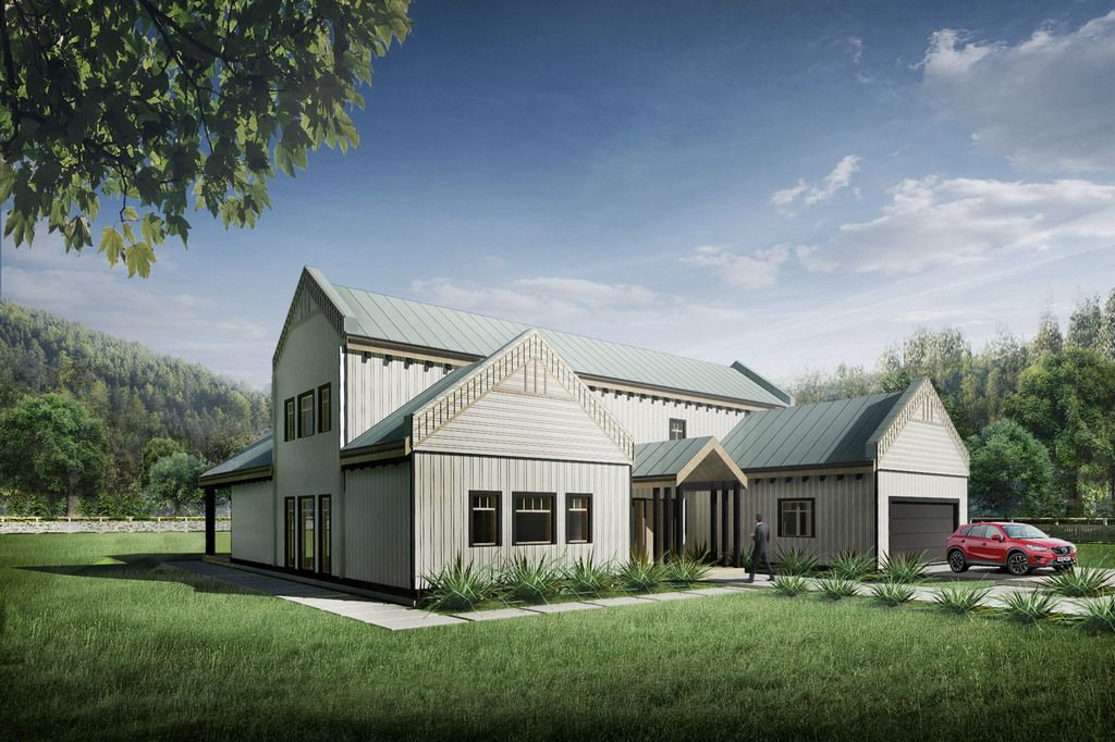 This Farmhouse Design Floor Plan Is 2736 Sq Ft And Has 3 Bedrooms Bathrooms