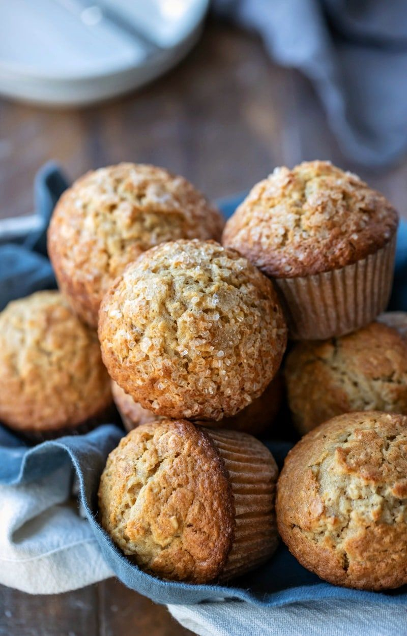 Best oatmeal muffins! These maple brown sugar oatmeal muffins are a healthy, hearty, delicious portable breakfast recipe.
