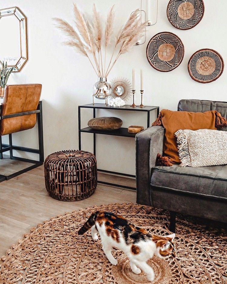 Natuurlijke Materialen In Huis Natuurlijke Woonkamers Interieur Woonkamer Thuis Woonkamer