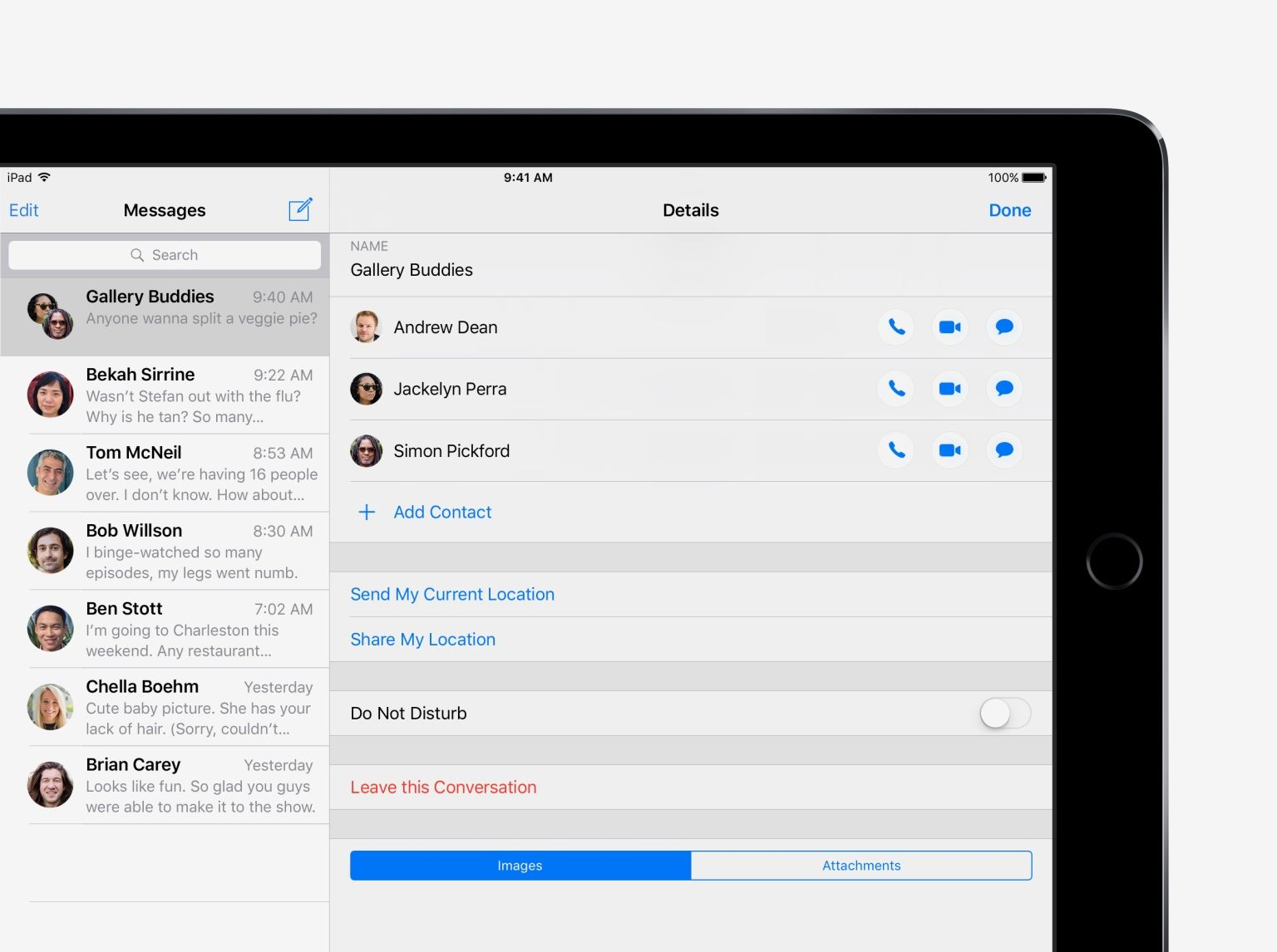 Manage a group chat - iOS 10 Tips and Tricks for iPad