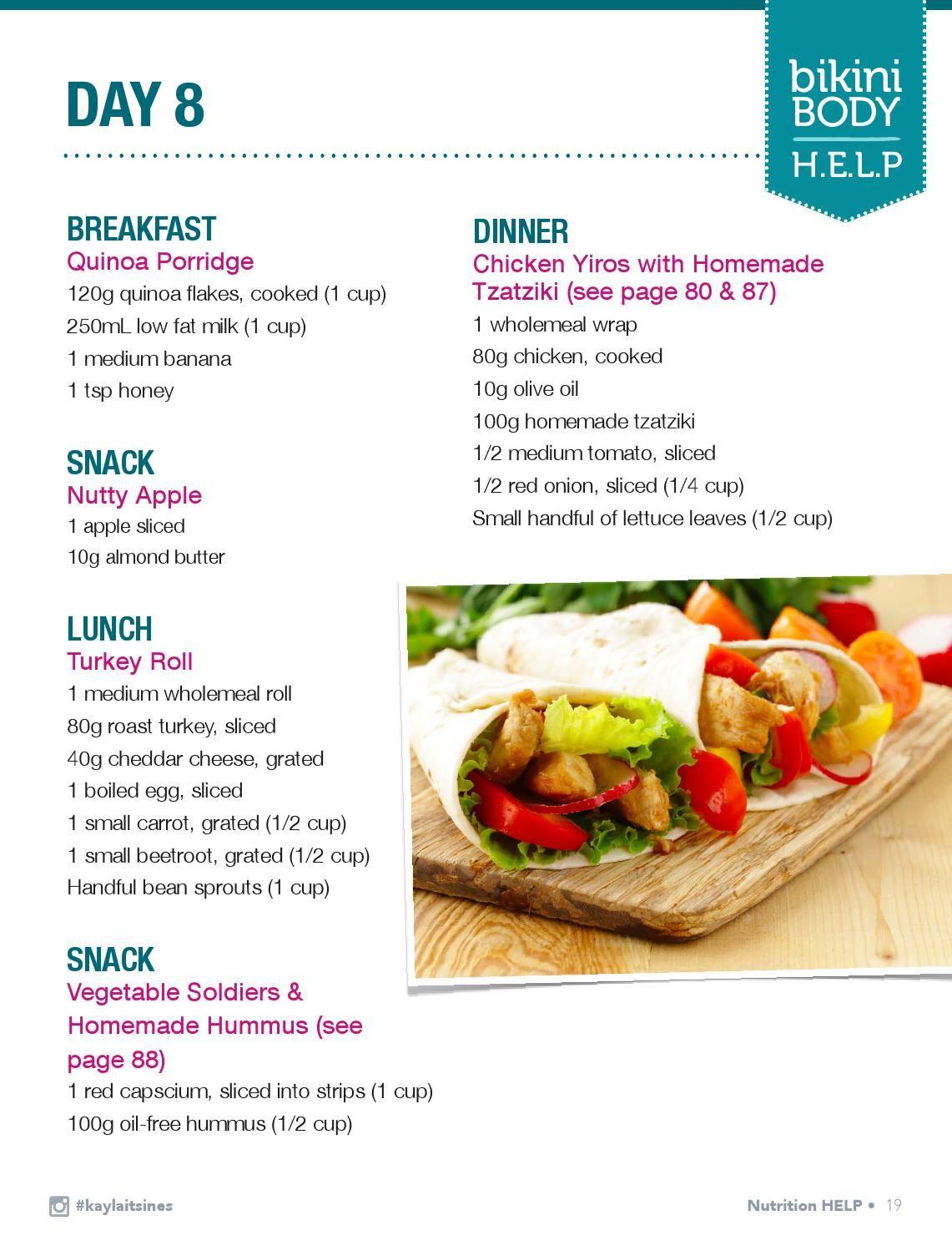 kayla itsines diet plan free download