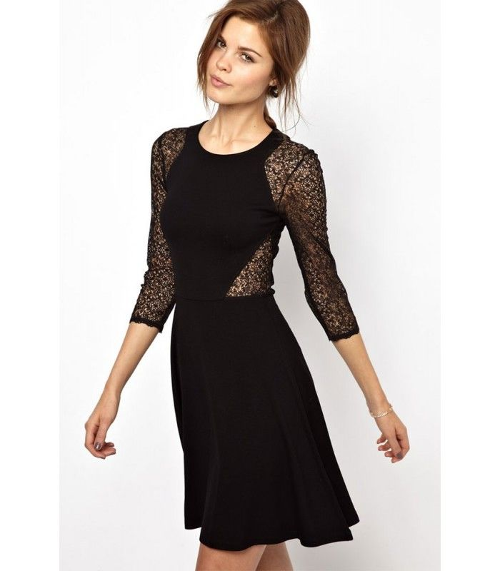 The second Black Lace Cocktail Dresses miss of the evening came ...