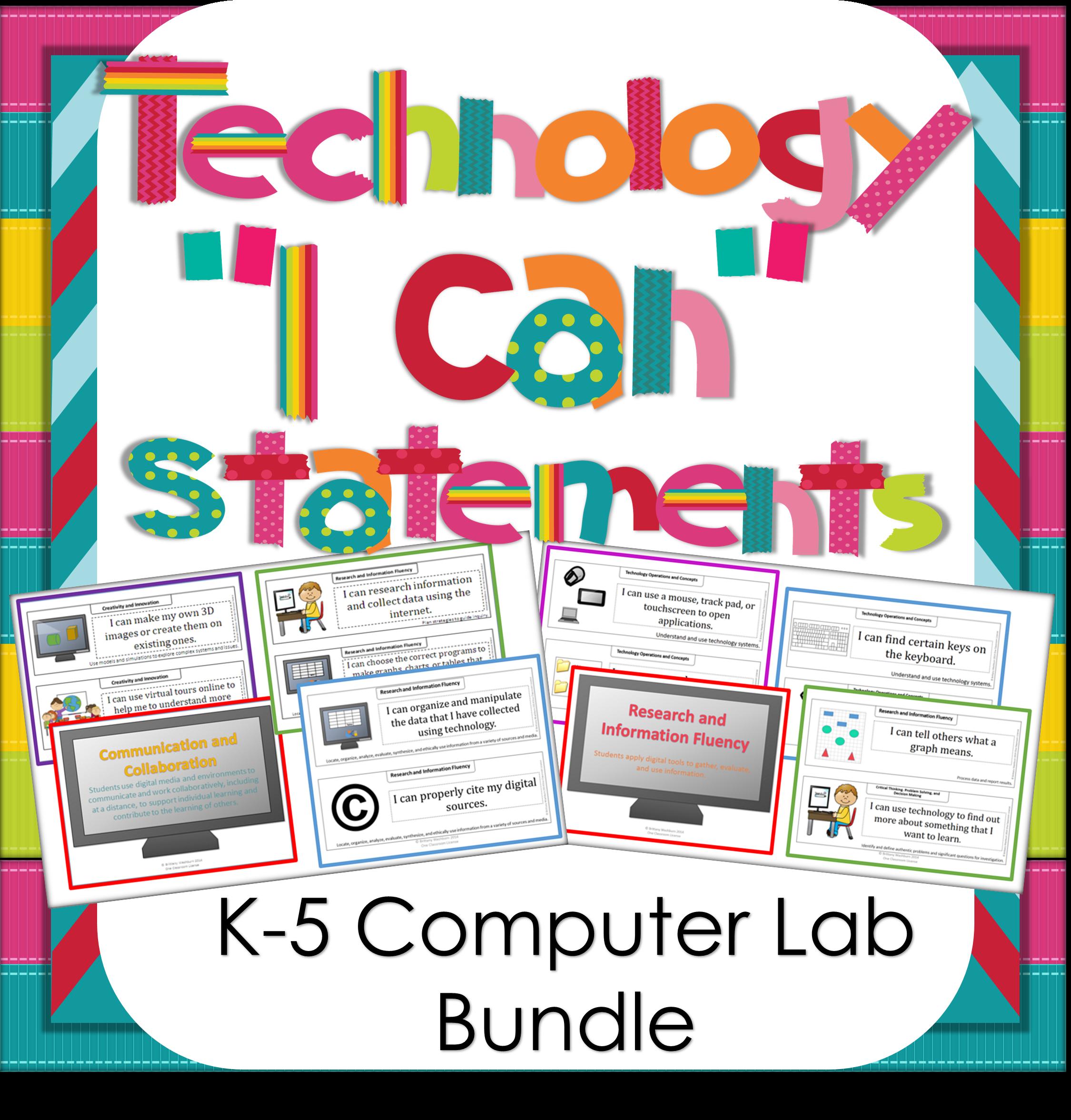 Technology I Can Statements K 5 Bundle