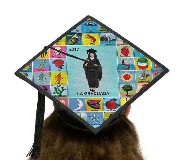 loteria graduation cap topper template la graduada custom grad cap