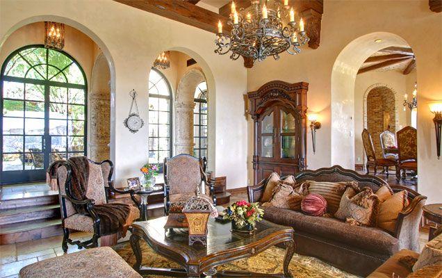 Arizona 39 s premiere custom home builder scottsdale - The living room dc ranch scottsdale ...