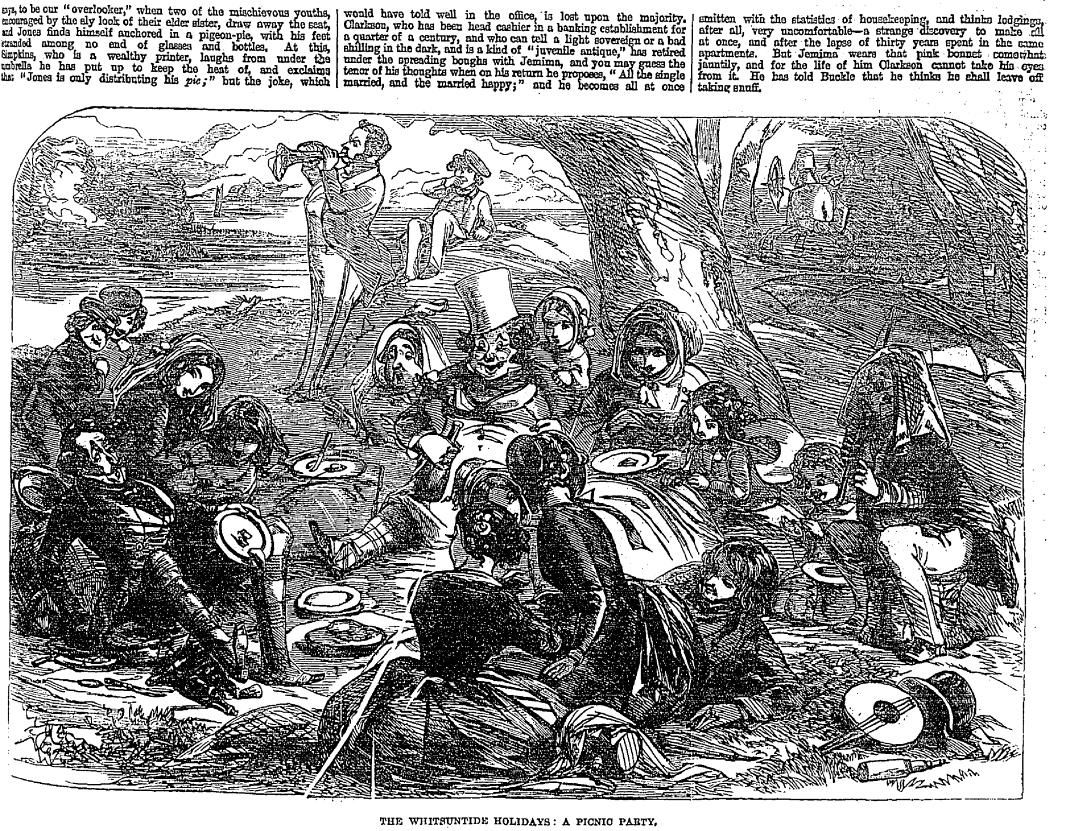 A PICNIC PARTY . The Penny Illustrated Paper (London, England), Saturday, May 30, 1863