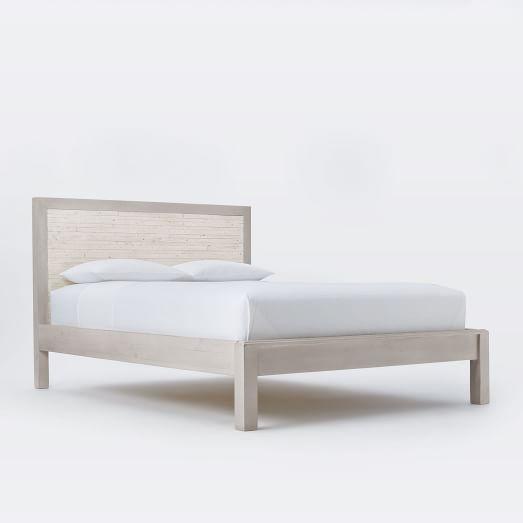Bay Whitewashed Bed Frame- Full, Reclaimed Pine, Whitewash   new ...