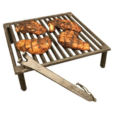 Portable Cast Iron Grill.Product: Portable GrillConstruction Material: Cast  IronColor: Black.